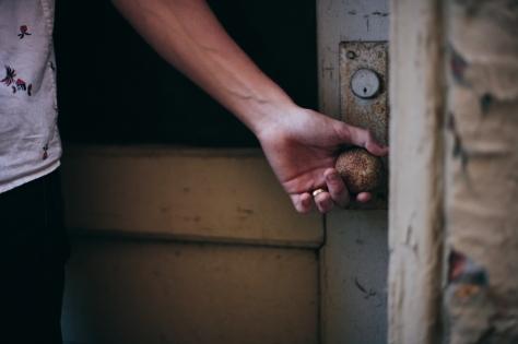 hand-on-door